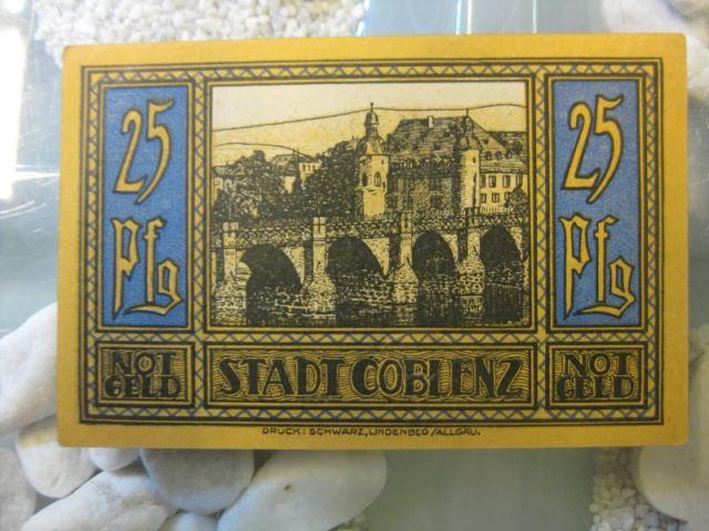 Notgeld Coblenz, Koblenz, 25 Pf.