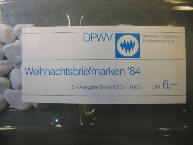 Markenheftchen Bund 1984 Paritätischer Wohlfahtsverband DPWV - MH