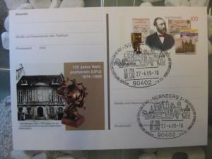 Sonderpostkarte PSo58, 125 Jahre UPU