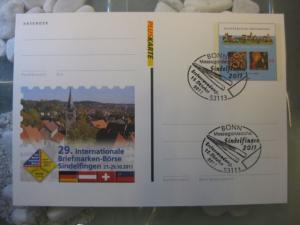 Pluskarte Sonderpostkarte PSo 115, Internationale Briefmarken-Börse Sindelfingen 2011