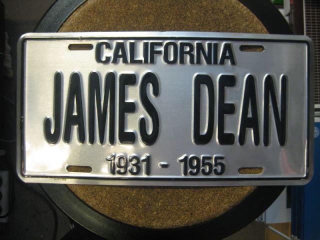 US. Nummernschild, Nummerntafel: California; James Dean in Originalgröße