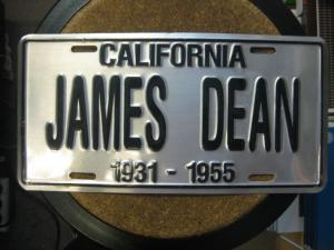 US. Nummernschild, Nummerntafel: California; James Dean in Originalgröße