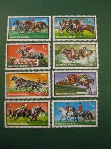 Pferde, 8 Werte, Ungarn, 1971