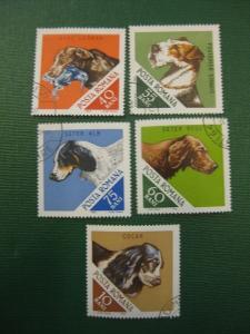 Hunde, 5 Werte, Rumänien, 1965