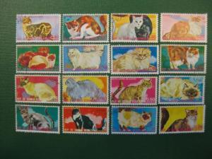 Katzen, Äquatrial-Guinea, 16 Werte