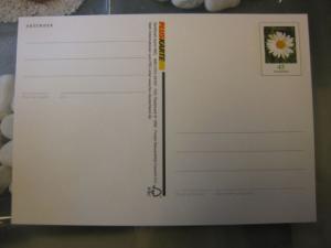 Sonderpostkarte PSo Wertstempel Blumen Margerite