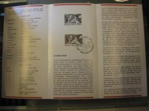 Belgien, Ankündigungsblatt, Ersttagsblatt, Schwarzdruck, Jugendphilatelie 1977