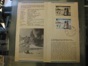 Belgien, Ankündigungsblatt, Ersttagsblatt, Schwarzdruck, Antarktisvertrag, 1971