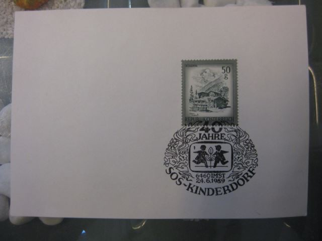 Sonderstempel Österreich, SOS-Kinderdörfer, 40 Jahre SOS-Kinderdorf, 1989