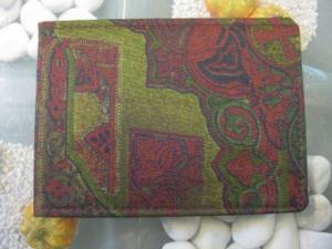Adressbuch; Textiler Einband, Größe in mm. Ca. 105 x 75im Querformat