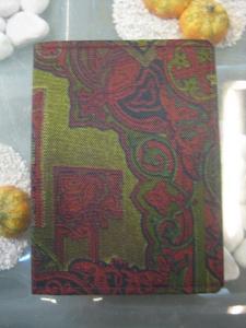 Adressbuch; Textiler Einband, Größe in mm. Ca. 105 x 75 im Hochformat