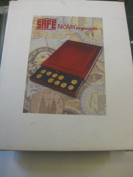 Münzen-Schubladenelement aus Holz (Münzenbox) NOVA exquisite von SAFE, stapelbar; Quadratische Inneneinteilung: für 24 Münzen bis Durchmesser 33 mm