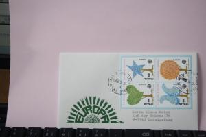 Italien, 1986, CEPT, EUROPA-UNION, Schmuckbrief - FDC mit ungezähnten Marken aus Ministerblatt (Faksimile);