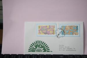 Italien, 1985, CEPT, EUROPA-UNION, Schmuckbrief - FDC mit ungezähnten Marken aus Ministerblatt (Faksimile);
