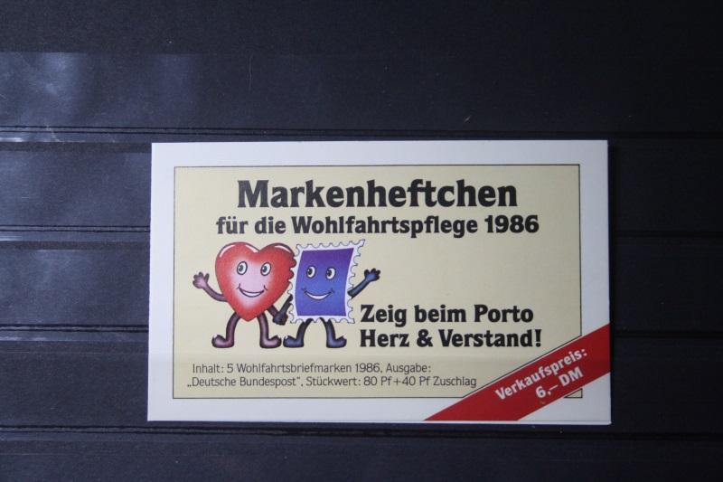Markenheftchen für die Wohlfahrtspflege 1986