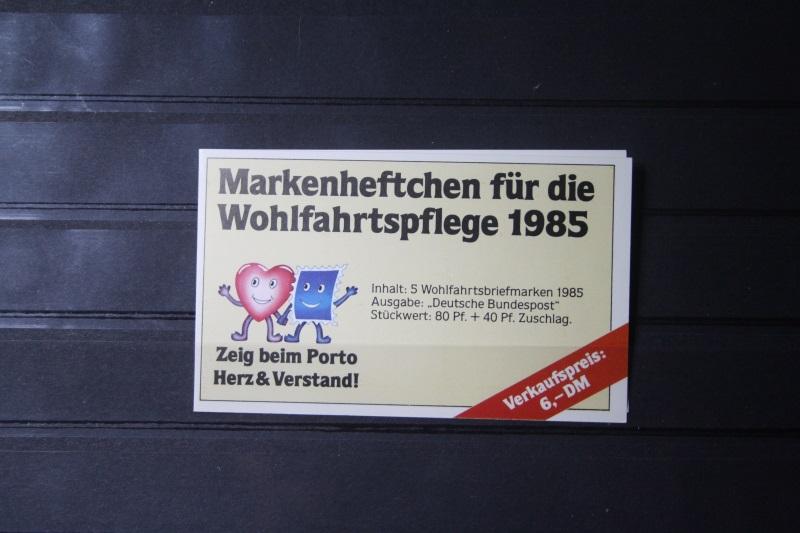 Markenheftchen für die Wohlfahrtspflege 1985
