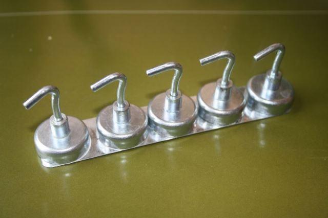 Magnete, Hakenmagnete, Kraftmagnete, Haftmagnete, 5 Stück, silberfarbig