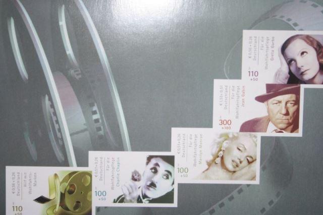 Wohlfahrt 2001, Internationale Filmschauspieler, Plattenfehler, Michel-Nr. 2220 CI, im Markenheft 46