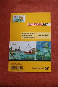 Folienblatt, FB 27, Markenset  Janosch Segelboot