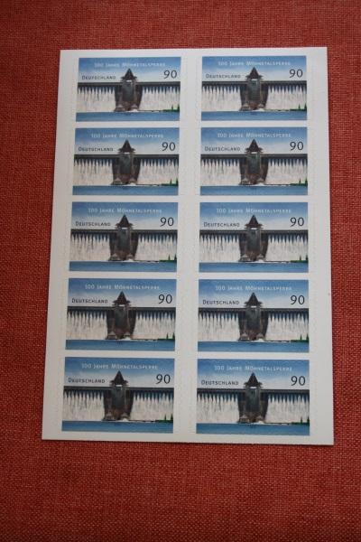 Folienblatt, FB 30, Markenset  Möhnetalsperre 1