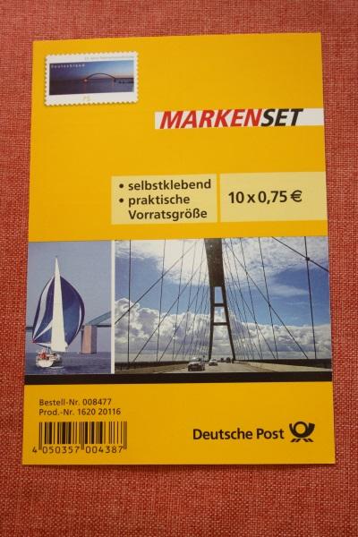 Folienblatt, FB 29, Markenset  Fehmannsundbrücke 0
