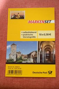 Folienblatt, FB 25, Markenset  Kaiserburg Nürnberg