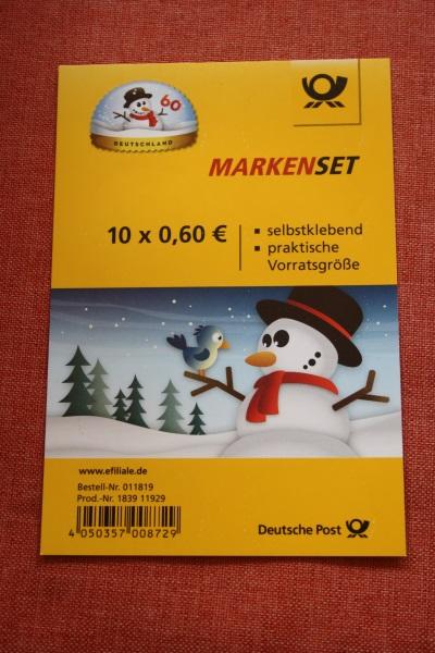 Folienblatt, FB 41, Markenset  Schneemann 0