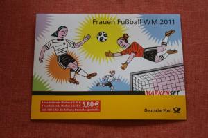 Markenset, MaxiSet, Markenheft MH-Mi.-Nr. 84, Frauenfußball, Sporthilfe 2011