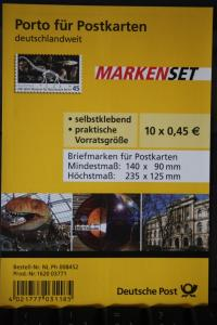 Folienblatt FB-MiNr. 5, Markenset Museum für Naturkunde
