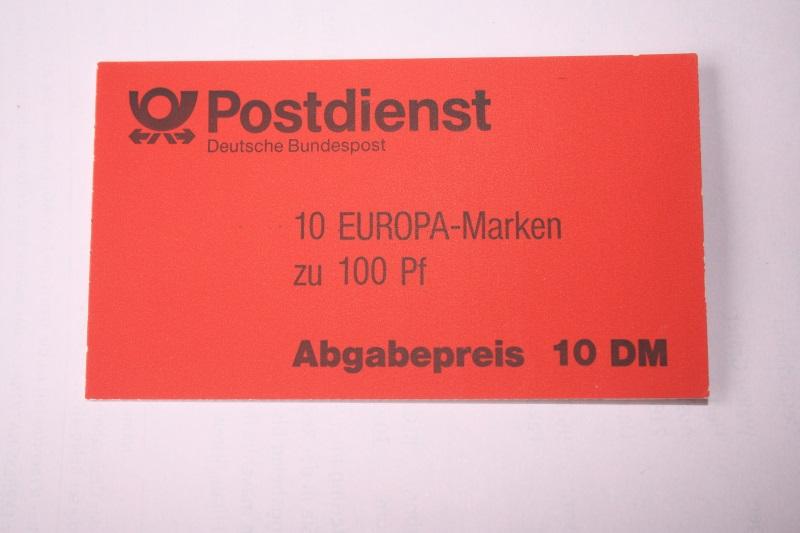 Markenheft MH 30 b oZ, EUROPA-Marken, Ersttagsstempel