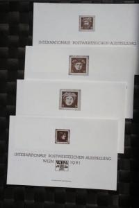 WIPA 1981 Wien; incl. der 216 seitigen Festschrift zum 100. jährigen Jubiläum, den Phasendrucken, Schwarzdrucken u. d. m. 1