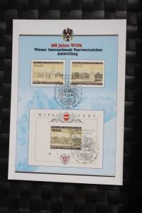 WIPA 1981 Wien; incl. der 216 seitigen Festschrift zum 100. jährigen Jubiläum, den Phasendrucken, Schwarzdrucken u. d. m. 3