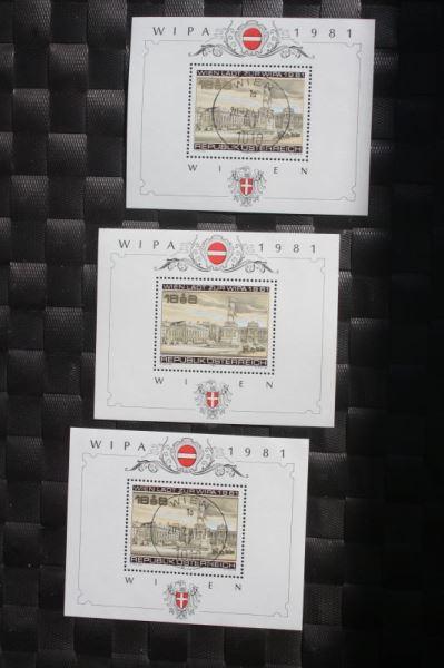WIPA 1981 Wien; incl. der 216 seitigen Festschrift zum 100. jährigen Jubiläum, den Phasendrucken, Schwarzdrucken u. d. m. 4