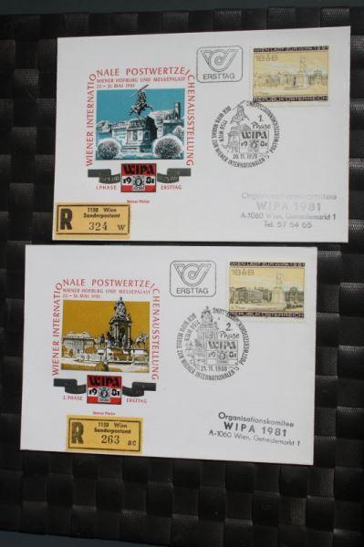 WIPA 1981 Wien; incl. der 216 seitigen Festschrift zum 100. jährigen Jubiläum, den Phasendrucken, Schwarzdrucken u. d. m. 5
