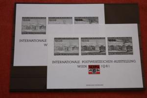 WIPA 1981 Wien; incl. der 216 seitigen Festschrift zum 100. jährigen Jubiläum, den Phasendrucken, Schwarzdrucken u. d. m. 9