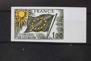 Dienstmarke für den EUROPARAT  1976, 1 France, Frankreich, France, Farbprobe, ungezähnt, geschnitten