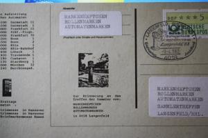 ATM-Dokumentation Sonderstempel Langenfeld 1983