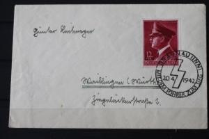 53. Geburtstag des Führers 1942; Sonderstempel Braunau a. Inn 20.4.1942
