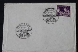 FDC zum Tag der Briefmarke 1942; Sonderstempel Stuttgart