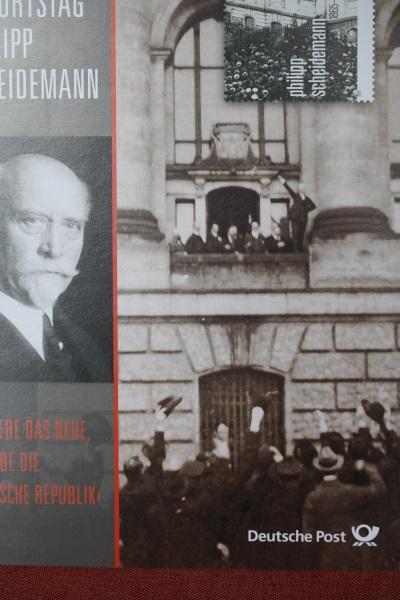 Erinnerungsblatt der Deutsche Post ; Scheidemann