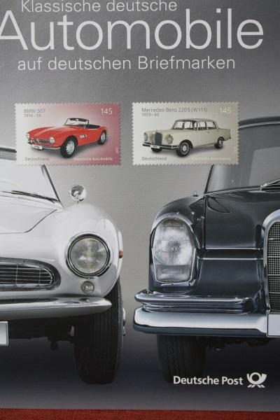 Erinnerungsblatt der Deutsche Post ; Automobile
