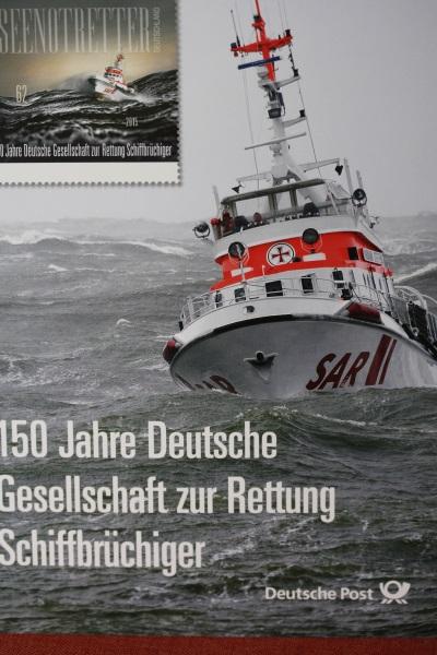 Erinnerungsblatt der Deutsche Post; Gesellschaft zur Rettung Schiffbrüchiger
