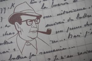 Erinnerungsblatt der Schweizer Post, Gemeinschaftsausgabe Simenon