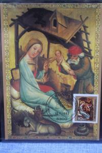 Maximumkarte Weihnachten 1982