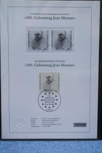 Schwarzdruck Jean Monnet 1988; Bundesrepublik
