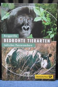 Erinnerungsblatt EB 2/2001; Gedenkblatt; Bedrohte Tierarten