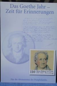 Erinnerungsblatt EB ; Gedenkblatt; Jahresgabe; Goethe