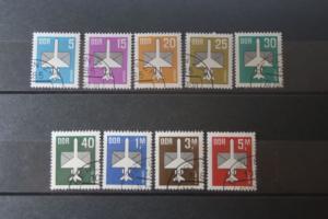 DDR Luftpostmarken; 2. Serie (9 Werte)
