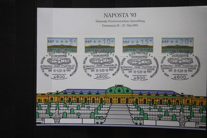 Stempelkarte, Erinnerungskarte, Sammelkarte, Ausstellungskarte der Post: NAPOSTA  93 in Dortmund