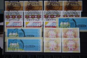 ATM Lot von Kurzsätzen: Portugal, Lettland, Niederlande, Portugal und Schweden